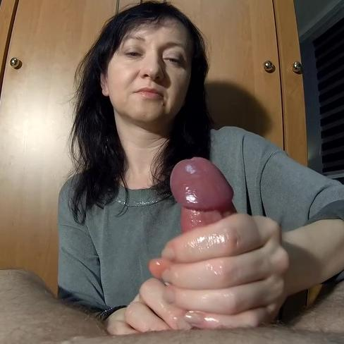 Maya's gentle hands makes him cum so hard