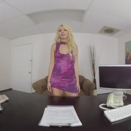 Blonde Gets Nailed in the Office