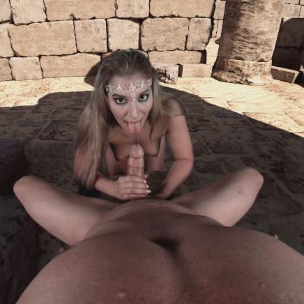 Vr porn desert action with stunning Moka Mora