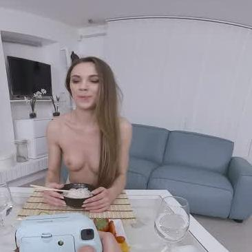 Brunette Can't Take The Dick In This VR Porn