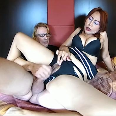 Asian babe with big boobs fucked and jizzed by stepbrother