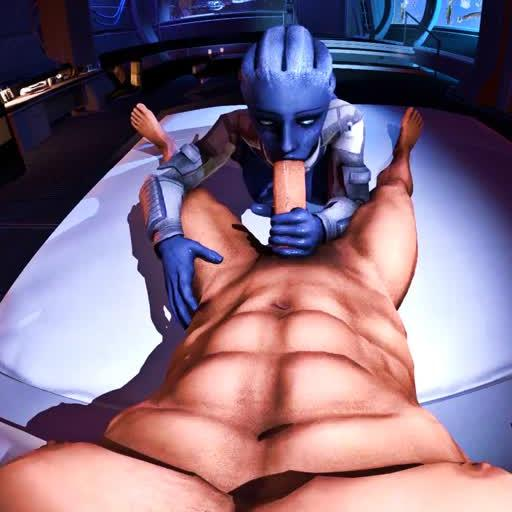 Liara Follows Orders: Right To A Cock