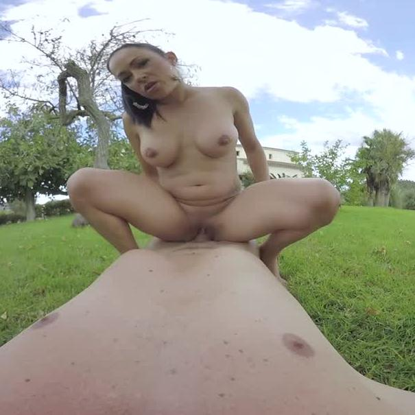 Outdoor VR Sex in the Garden