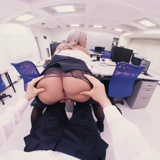 Blonde Japanese Coworker Fucks You
